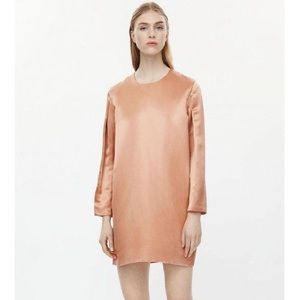 COS Silk Dress With Long Sleeves.